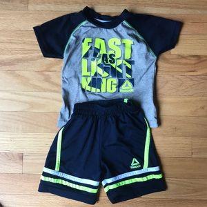 Reebok 18 mo boys shirt and shorts set